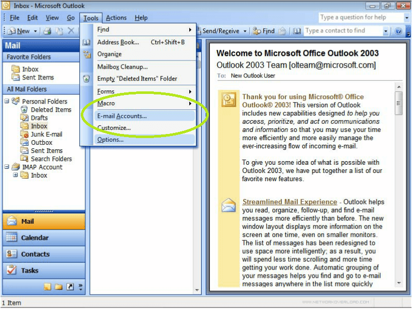 Setting Up an Email Account in Outlook 2003 on Windows 7 on outlook office, outlook not working, outlook tips, outlook cloud, outlook skydrive, outlook mobile, outlook windows 8, outlook iphone, outlook 2013 activesync, outlook password recovery, outlook live mail, outlook web, outlook mail inbox, outlook tablet, outlook laptop, outlook mac, outlook android, outlook email, outlook ios,